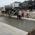 Concrete Genius Residential garage parking pad concrete edmonton