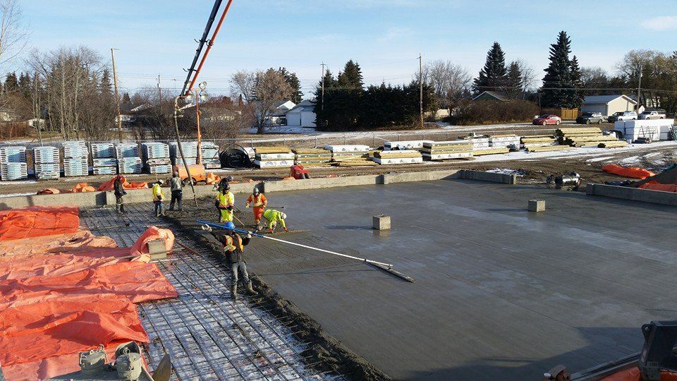 Concrete Genius barrhead coop concrete winter pour