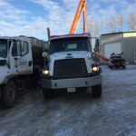 Concrete floor - Concrete Genius - Concrete into concrete pump truck